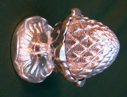 Pomo o Manilla para Puerta de 11 x 7 cm Aluminio fundido Piña de 11 x 7 cm color Envejecido