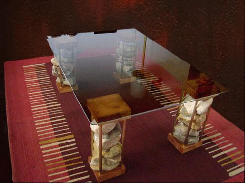 Mesas de Bronce y Aluminio