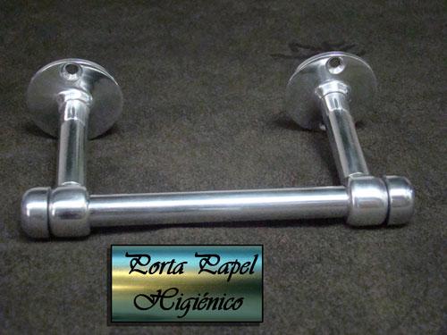 Porta Rollo papel higiénico en Acero Inoxidable y Aluminio. La terminación mas opaca del da un aspecto muy distintos los los similares standar cromados que se vende en los mercado.